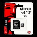 microSDXC 64GB Kingston Class 10 UHS-I + adaptér (SDC10G2/64GB) (EU Blister)