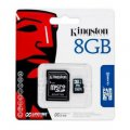 microSDHC 8GB Kingston Class 10 UHS-I + adaptér (EU Blister)