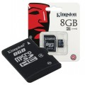 microSDHC 8GB Kingston Class 4 + adaptér (EU Blister)