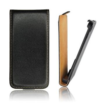 ForCell Slim Flip puzdro Black pre Sony D2303 Xperia M2