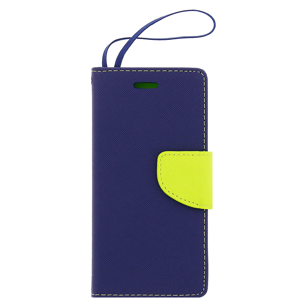 Fancy Diary Book puzdro Navy/Lime pre iPhone 6/6S