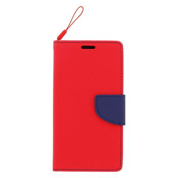Fancy Diary Book puzdro Red/Navy pre Samsung G388 Galaxy Xcover3