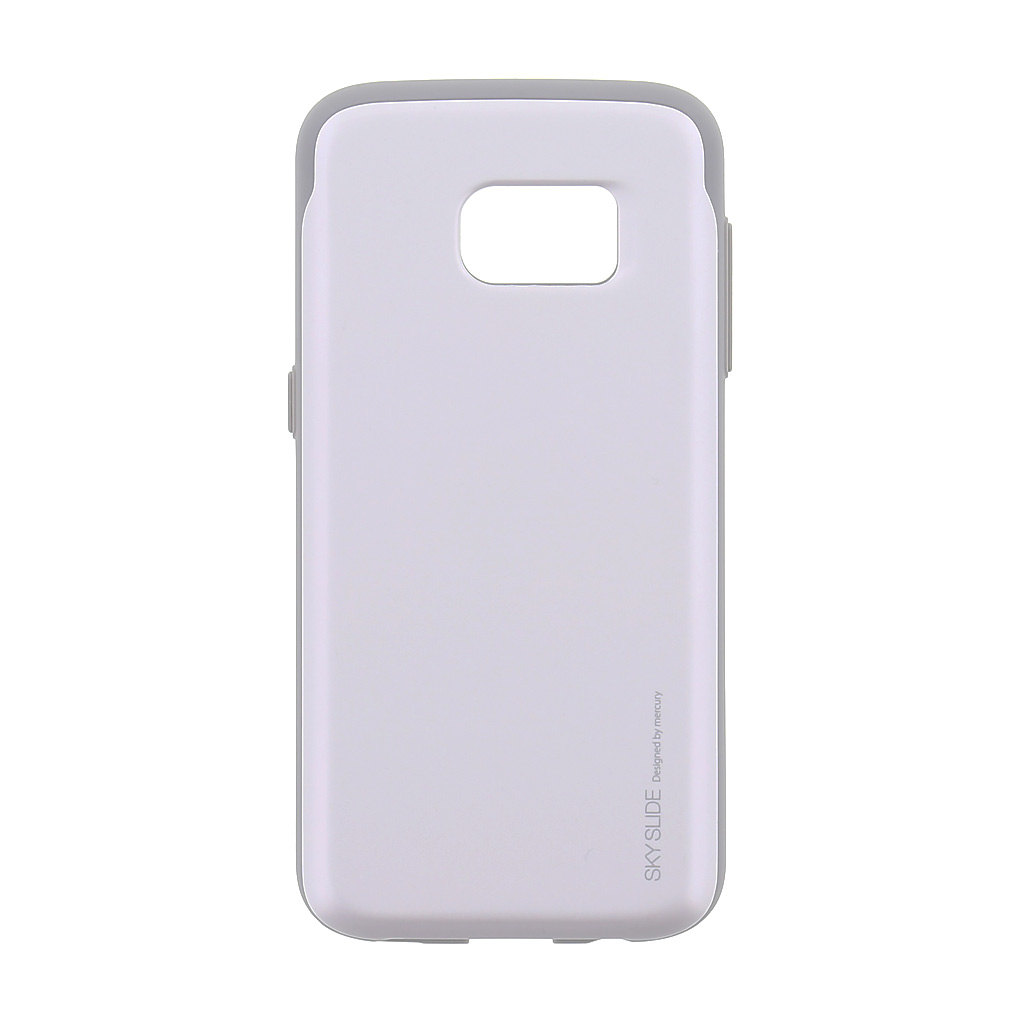 Mercury Sky Slide Bumper Case pre Samsung G930 Galaxy S7 White/Grey