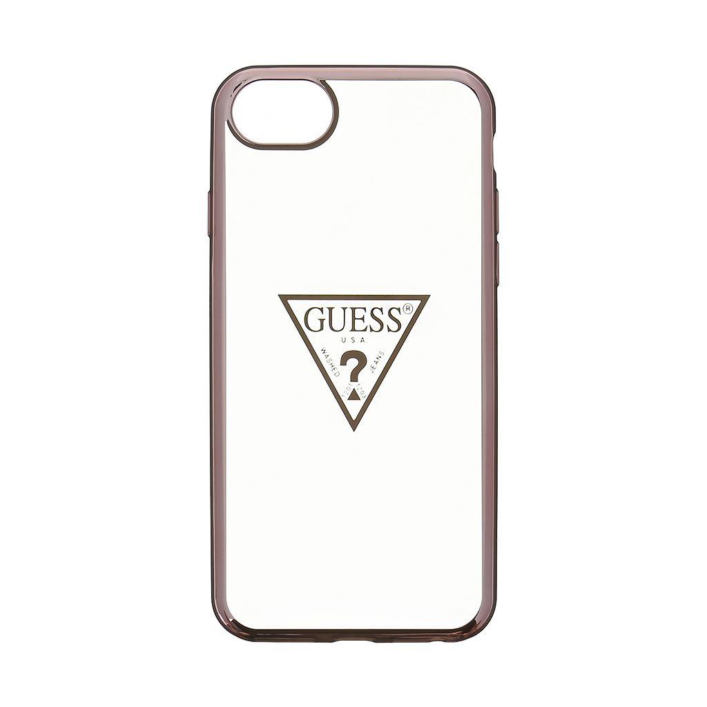 GUHCP7TRTLRG Guess Triangle TPU Puzdro Rose Gold pre iPhone 7