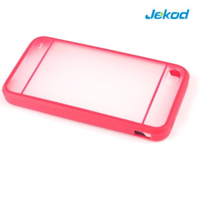 JEKOD Double Color TPU Case puzdro Red pre iPhone 4, 4S