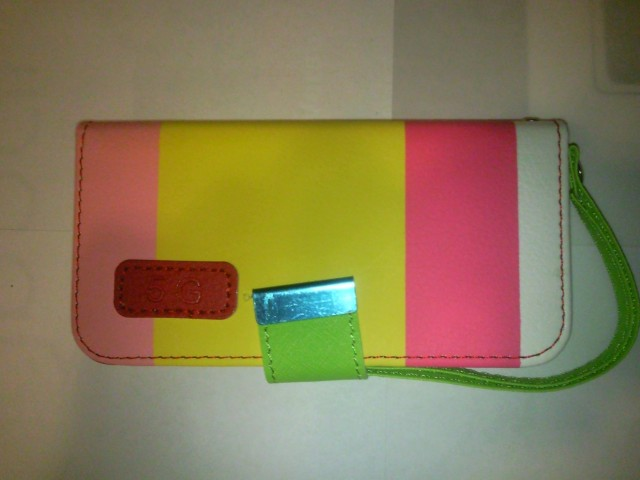 Fashion Case puzdro na iPhone 5/5S/SE yellow / pink