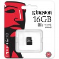 microSDHC 16GB Kingston Class 10 UHS-I bez adaptéra (EU Blister)